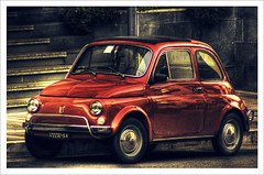 Fiat 500 Vintage HDR (Sabrina Campagna) Tags: auto red car photoshop vintage high automobile raw cross dynamic fiat panasonic processing 500 50 range fz hdr 60 fz50 photomatix isawyoufirst amazingamateur spiritofphotography rubyphotographer 100commentgroup