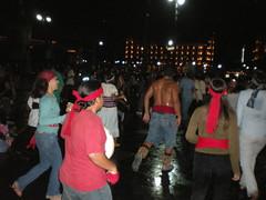 Aztec dancers sweat it up............ (sftrajan) Tags: rain mxico night noche mexicocity barechested mexique mexicans zocalo mexiko distritofederal ciudaddemxico aztecdancers chilangolandia