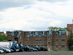 UPSKIRT (917press) Tags: windows newyork brooklyn graffiti parkinglot upskirt navyyard