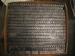 Sans Serif Caps Letterpress Lead Type - 36pt (dolcepress) Tags: ny sale caps type ithaca letterpress lead sansserif dolcepress 36pt 54pt