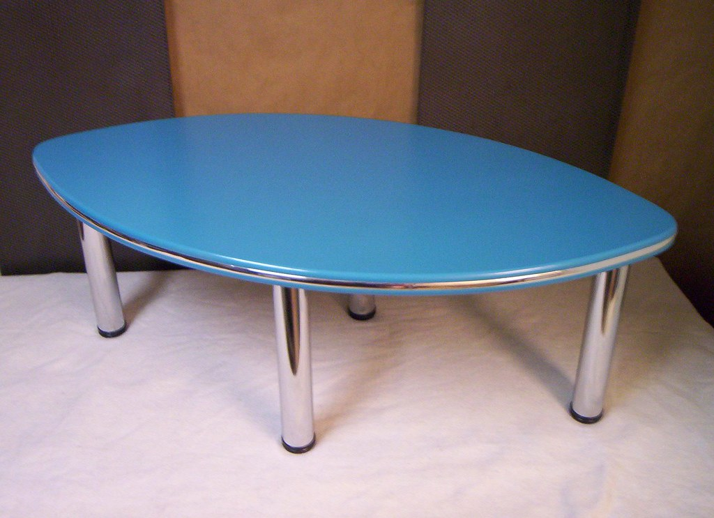 Surfboard Shaped Table