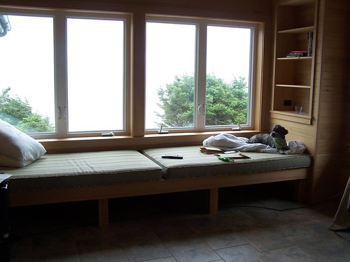 beach house window seat