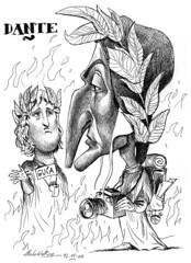 DANTE Alighieri (Morales de los Ros) Tags: writers caricaturas philosophers caricatures escritores filsofos