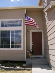 Front Door,Majc, and the Flag