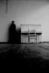 ... (Tomasz Olejnik - Photography) Tags: shadow bw woman dark nikon piano tamron uroborus postac simpleform d80 darkspaces fortepian pianino darkimpressions
