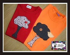 rvores (Claudia Abbondanza) Tags: quilt handmade artesanato infantil camisetas bordado aplicaes customizao