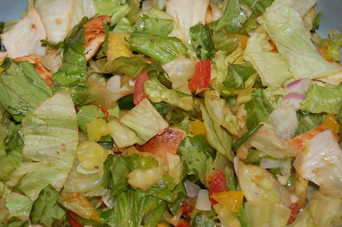 The raw materials: salad