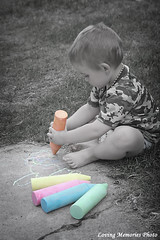 coloring the world (Abbajean's Photos) Tags: photoshop selectivecoloring vignette chalk color art canon rebel xt