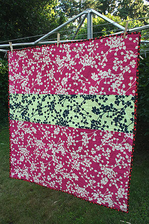 Cherry Quilt Back