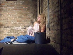 Rehearsal, July 2008: Basement (tearfulassassin) Tags: wickerpark chicago theater play theatre performance performingarts police kidnapping artists reality wanted premiere drama bucktown violent detectives windycity marymarshall matthewtucker vincenttruman gorillatango shelleynixon caitlinemmons