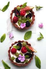 fig, berry and sheep's milk cream tart (cannelle-vanille) Tags: flowers friends berries chocolate brunch tarts figs sheepsmilk whitespacewednesday