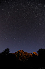 Starry Mountain (Alberto Segramora) Tags: longexposure blue mountain abstract mountains colors night clouds stars landscapes long nuvole blu wide tokina alberto 12mm colori paesaggi montagna starry notte lecco sera stelle d300 longexposures meridionale grigna tempilunghi segramora