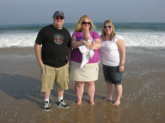 The Family on the beach........ I know.. I should have taken off my shoes (Ludeman99) Tags: me sarah samantha amagansett thehamptons summertrip2008 eowynsfirstroadtrip eowynlouisebitner