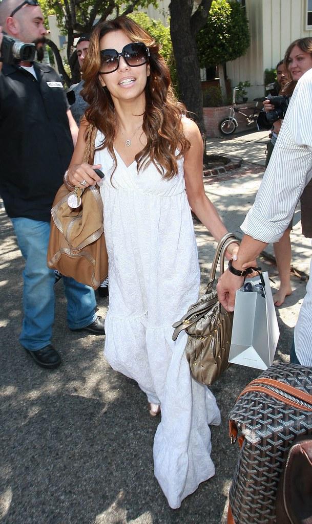 Eva Longoria, uzun elbise, unluler, beyaz