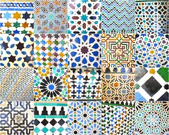 Carreaux maures (islamic iberic tiles) (hannah***) Tags: espaa spain europe andalucia alhambra espagne mosaique andalousie azulejos artcafe carreaux alicatados