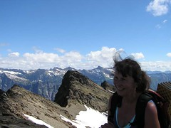 Joanna with other Indian Head points behind (looking North)