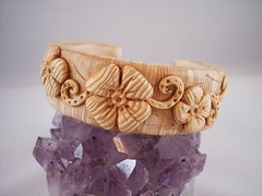 Faux Ivory Cuff Bracelet (clayangel_sc) Tags: wood white flower art nature beauty fashion beads pc beige artist handmade originalart oneofakind ooak tan ivory jewelry polymerclay fimo clay gift bracelet faux sculpey handcrafted wearableart accessories bracelets earrings etsy cuff wearable acessories brooches necklaces fauxwood kato polymer millefiori premo antiqued artjewelry hypoallergenic adornments artisanjewelry canework handmadebeads artbeads fauxbois fauxivory handcraftedbeads pcagoe notpainted polymerclayjewelry oneofakindjewelry fauxjewelry southcarolinaartist jewelryartisan boldjewelry clayangel oneofakindpiece clayangelsc nopaintisinvolved boisfaux