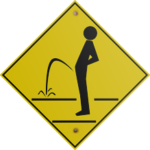 Pee Outside Sign