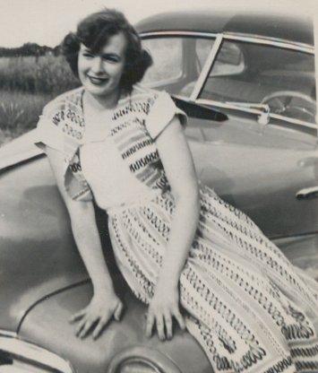 Mom on car
