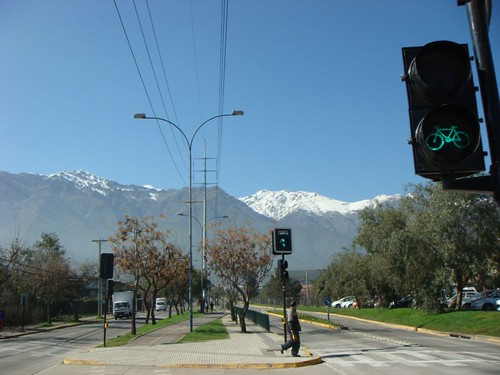 Los Andes from the Peñalolen suburb...