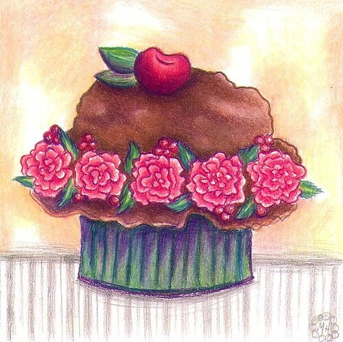 Chocolate and Roses Cupcake