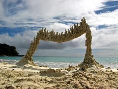 red beach #5 (sandcastlematt) Tags: sculpture castle beach sand puertorico drip sandcastle vieques sandsculpture dripcastle redbeach dripsculpture