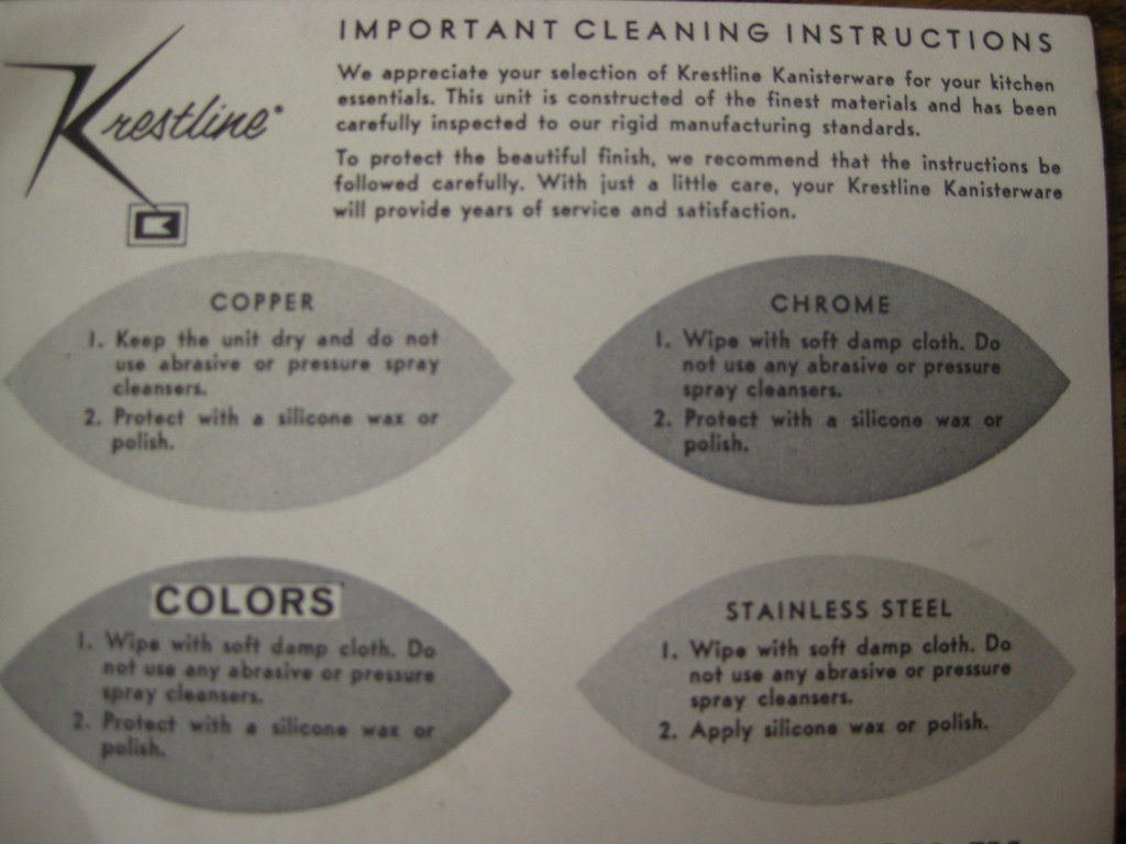 important cleaning instructions