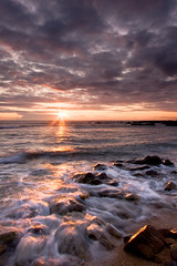 Sunrise Balcomie Links (David Kendal) Tags: seascape beach sunrise dawn fife tide dramatic shore waterblur daybreak hightide crail rockyshore eastneukoffife eastneuk standrewsbay balcomielinks balcomie greatscots fifeness davidkendal