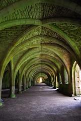 Fountains Abbey (nickcoates74) Tags: abbey ruins arch yorkshire vault fountainsabbey nationaltrust d60
