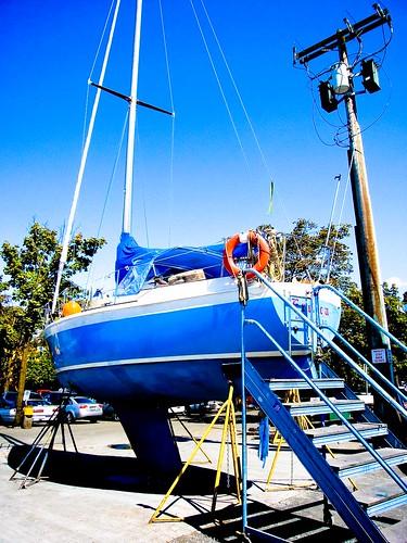 blue sky vancouver sailboat island dock granville dry picaday granvilleisland