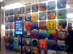 iPhone app display, apple store sf