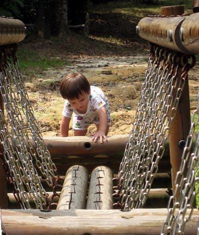 Jayden climbing