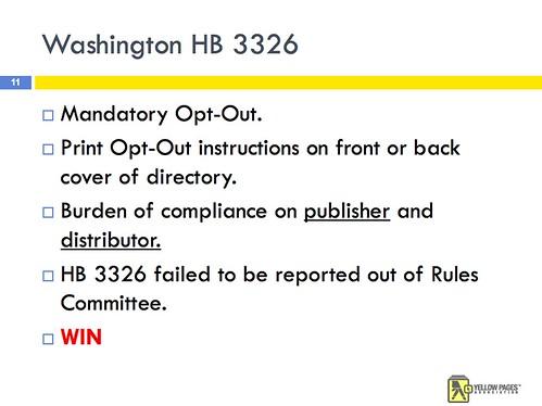 Blocking Opt-Out Legislation in Washington State