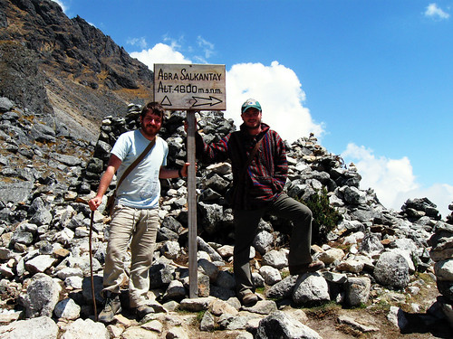 Me and Adam, Salkantay pass, 4,600metres, Salkantay Trek, Peru