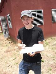 Jan beim zeichnen des Grundrisses