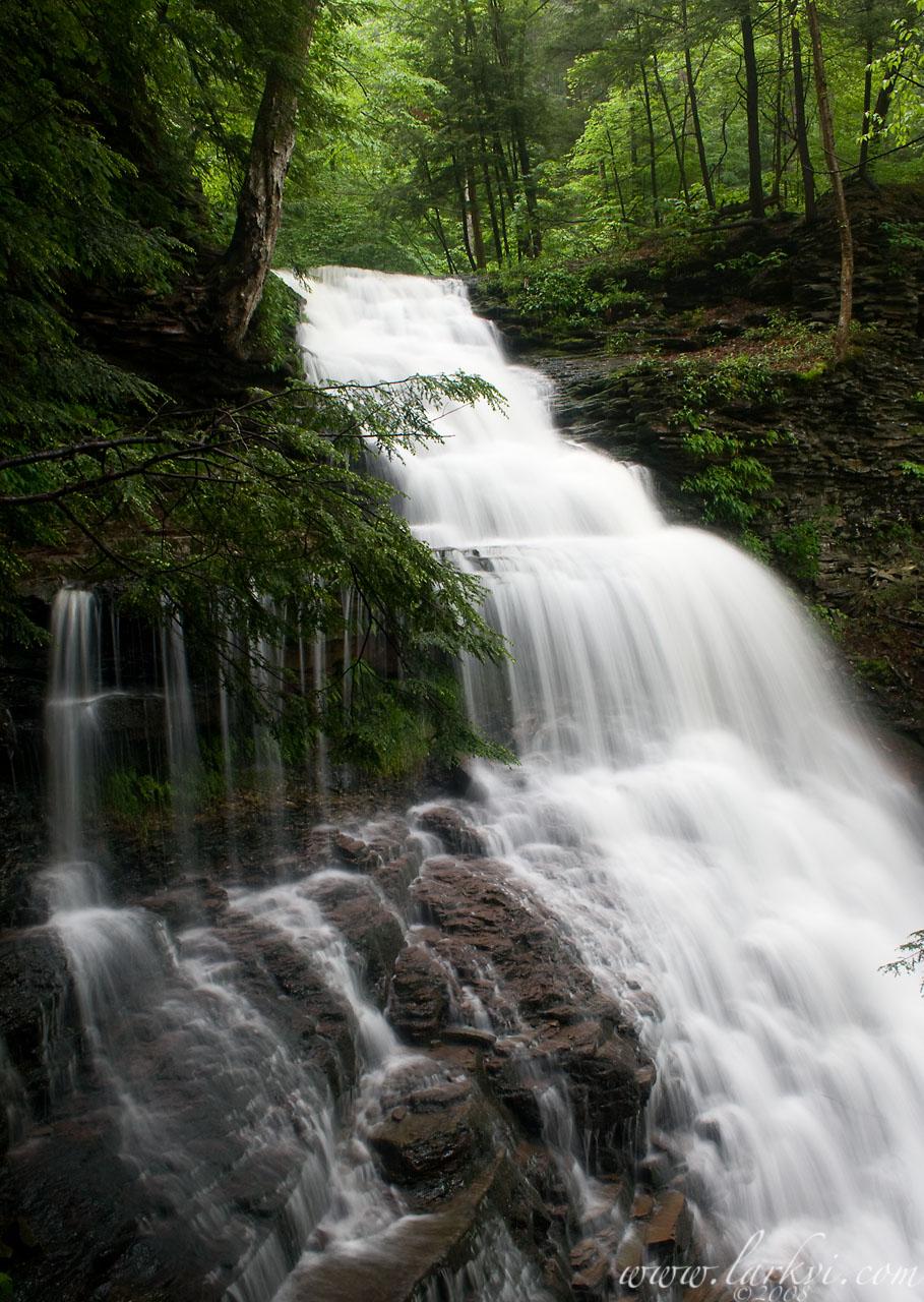 Ganoga Falls #2,Rickett's Glen State Park, Pennsylvania, June 2008