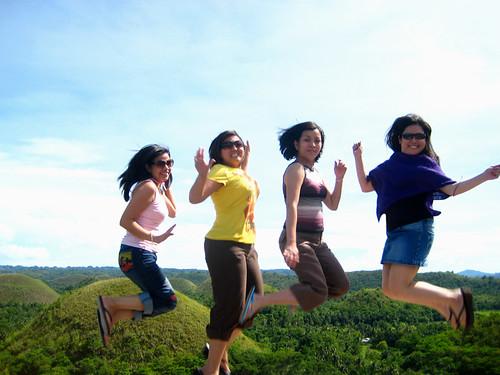 High jump amidst the hills