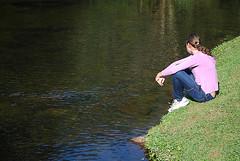 Andri Pensativa (Allyson Correia) Tags: lake nature water nikon alone loneliness natureza momento thinking retiro blumenau solidão d60 pensativa reflexão nikond60