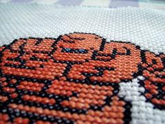 Ironed Golem (benjibot) Tags: crossstitch crafts videogames nes dragonwarrior golem