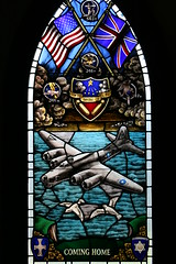 Air Force Museum 82 (Creating Character) Tags: plane chapel stainedglass shield cominghome poolerga mightyeighthairforcemuseum 344th 347th 545th 346th keeptheshowontheroad