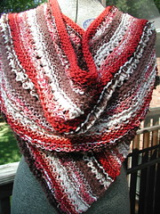 Brown and Red Wrap