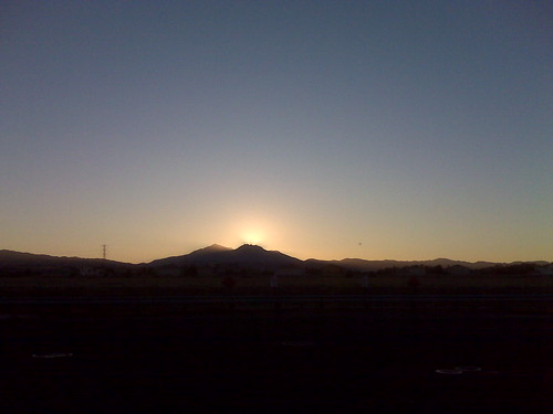 Descending sun