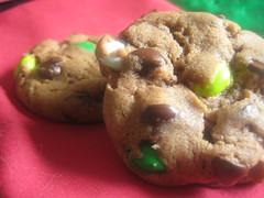 Christmas M&M Chocolate Chip Cookies 5