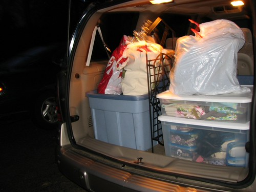 Packed up the van for tomorrow's vendor event