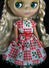 Blythe Country Christmas Dress