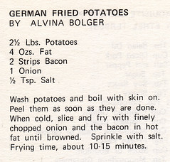 Side - German Fried Potatoes (Eudaemonius) Tags: old vintage recipe potatoes side german recipes fried clipped eudaemonius bluemarblebountycom 20081211