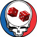 Grateful Dead Steal Your Face red dice