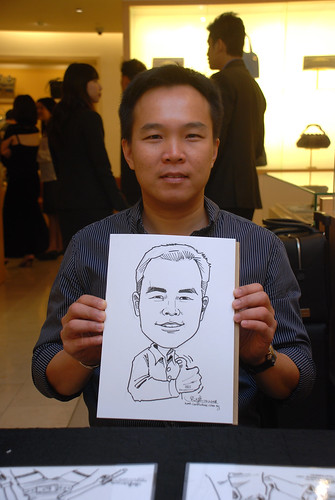 Caricature live sketching for Bulgari Christmas Brunch - 2