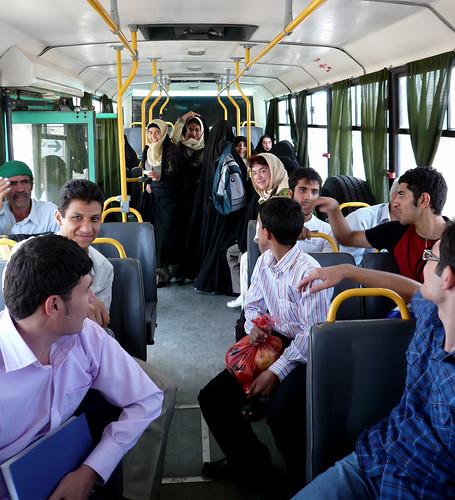 en el autobus kashan