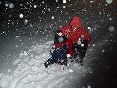 Sledding in the dark